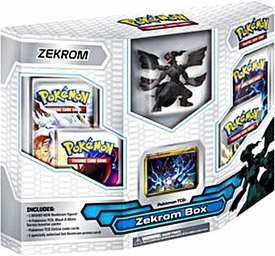 Pokemon Black & White ZEKROM Box  [4 Booster Packs, 1 Holo Promo Card & 1 Legendary Figure]