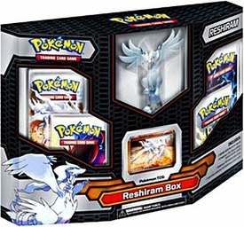 Pokemon Black & White Card Game RESHIRAM Box  [4 Booster Packs, 1 Holo Promo Card & 1 Legendary Figure]