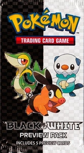 Pokemon Black & White PREVIEW Booster Pack [5 Preview Cards]