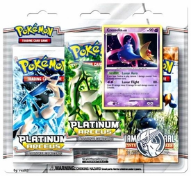 Pokemon Card Game Arceus Special Edition [3 Booster Packs & 1 Cresselia Holo Rare Card]