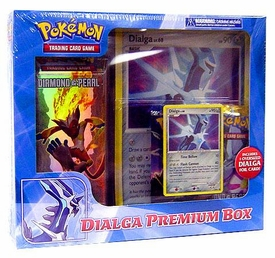 Pokemon Card Game Dialga Premium Box [1 Deck, 2 D&P Booster Packs, 1 Dialga Foil Card & 1 Oversized Dialga Card]