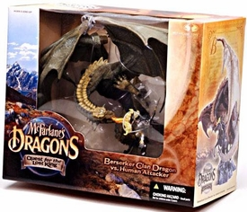 McFarlane Toys Dragons Series 1 Action Figure Deluxe Boxed Set Berserker Clan Dragon vs. Human Attacker BLOWOUT SALE!