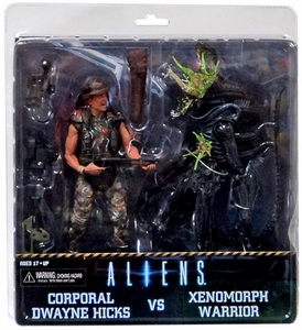NECA Aliens Action Figure 2-Pack Hicks & Battle Damaged Blue Warrior