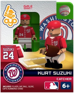 OYO Baseball MLB Generation 2 Building Brick Minifigure Kurt Suzuki [Washington Nationals]