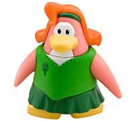 Disney Club Penguin 2 Inch Mini Figure Shamrock Dress
