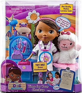 Disney Doc McStuffins 12 Inch Talking Action Figure Set Time For a Checkup