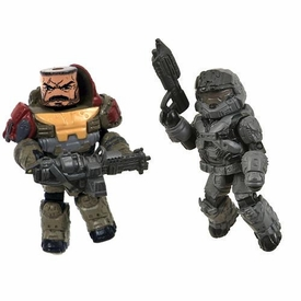 Halo Minimates Series 1 LOOSE Mini Figure 2-Pack Jorge & Noble 6