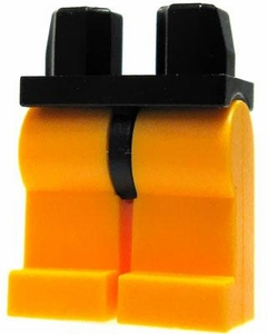 LEGO LOOSE Legs Black Hips with Bright Orange Legs