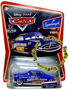 Disney / Pixar CARS Movie 1:55 Die Cast Car Series 2 Supercharged Fabulous Hudson Hornet with Silver Hub Caps