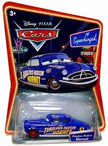 Disney / Pixar CARS Movie 1:55 Die Cast Car Series 2 Supercharged Fabulous Hudson Hornet with Red Hub Caps