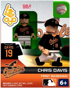 OYO Baseball MLB Generation 2 Building Brick Minifigure Chris Davis [Baltimore Orioles]