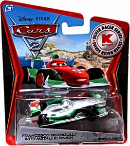 Disney / Pixar CARS 2 Movie Exclusive 1:55 Die Cast Car Silver Racer Francesco Bernoulli