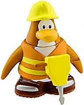 Disney Club Penguin 2 Inch Mini Figure Construction Worker