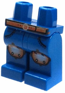 LEGO LOOSE Legs Blue Hips & Legs with Brown Belt & Knee Pads