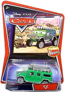 Disney / Pixar CARS Movie 1:55 Die Cast Car TJ the Green Hummer