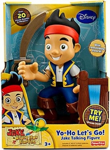 Disney Jake & the Never Land Pirates Talking Action Figure Yo-Ho Let's Go! Jake