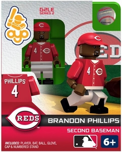 OYO Baseball MLB Generation 2 Building Brick Minifigure Brandon Phillips [Cincinnati Reds]