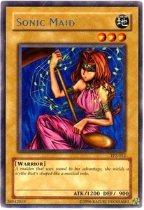 YuGiOh Tournament Pack 2 Single Card Rare TP2-012 Sonic Maid