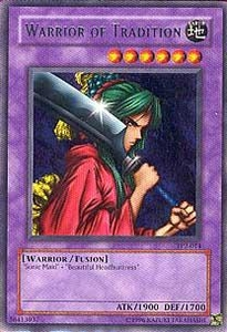 YuGiOh Tournament Pack 2 Single Card Rare TP2-014 Warrior of Tradition