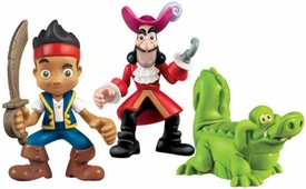 Disney Jake & the Never Land Pirates Poseable Figure 3-Pack Hook, Jake & Croc
