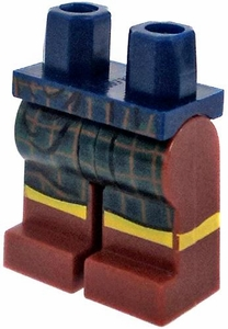 LEGO LOOSE Legs Dark Blue Hips with Brown Legs in Green Kilt