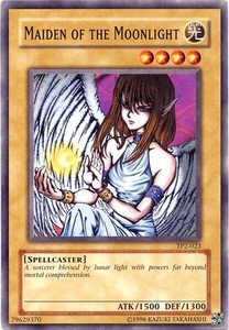 YuGiOh Tournament Pack 2 Single Card Common TP2-023 Maiden of the Moonlight