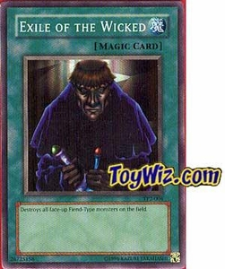 YuGiOh Tournament Pack 2 Single Card Super Rare TP2-004 Exile of the Wicked