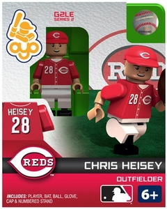 OYO Baseball MLB Generation 2 Building Brick Minifigure Chris Heisey [Cincinnati Reds]