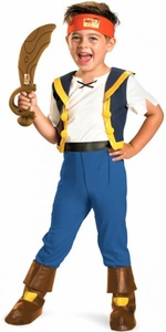 Jake and the Neverland Pirates Deluxe Child Costume #41754 Jake [Toddler Medium 3T-4T]