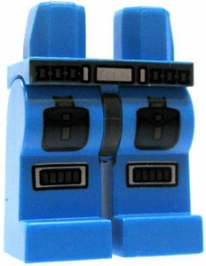 LEGO LOOSE Legs Light Blue Legs with Belt & Armored Details