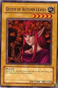 YuGiOh Tournament Pack 2 Single Card Common TP2-024 Queen of Autumn Leaves