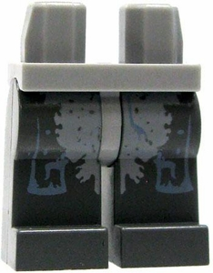 LEGO LOOSE Legs Light Gray Hips with Dark Gray Legs & Light Gray Muscle In Blue Trim BLOWOUT SALE!