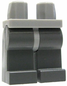 LEGO LOOSE Legs Light Gray Hips with Dark Gray Legs