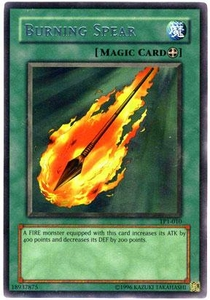 YuGiOh Tournament Pack 1 Single Card Rare TP1-010 Burning Spear
