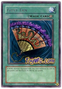YuGiOh Tournament Pack 1 Single Card Rare TP1-011 Gust Fan