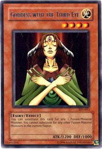 YuGiOh Tournament Pack 1 Single Card Rare TP1-013 Goddess with the Third Eye