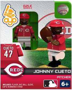 OYO Baseball MLB Generation 2 Building Brick Minifigure Johnny Cueto [Cincinnati Reds]