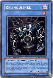 YuGiOh Master Collection 1 Promo Single Card Secret Rare MC1-EN003 Relinquished