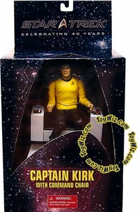 Diamond Select Toys Star Trek  Deluxe Action Figure Captain James T. Kirk with Captain's Chair