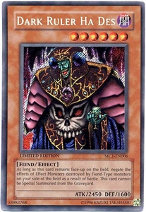 YuGiOh Master Collection 1 Promo Single Card Secret Rare MC1-EN006 Dark Ruler Ha Des
