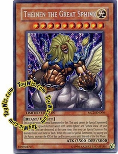 YuGiOh Master Collection 2 Single Card Secret Rare MC2-EN006 Theinen the Great Sphinx