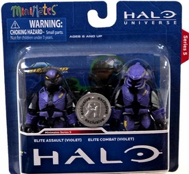 Halo Minimates Exclusive Series 5 Mini Figure 2-Pack Elite Assault [Violet] & Elite Cobat [Violet]
