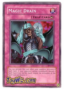 YuGiOh Tournament Pack Single Cards Season 4 TP4-017 Magic Drain