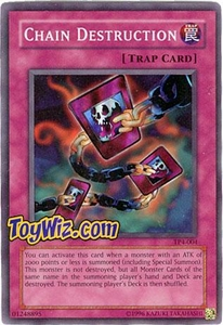 YuGiOh Tournament Pack Single Cards Season 4 Super Rare TP4-004 Chain Destruction