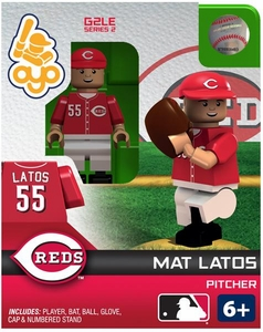 OYO Baseball MLB Generation 2 Building Brick Minifigure Mat Latos [Cincinnati Reds]