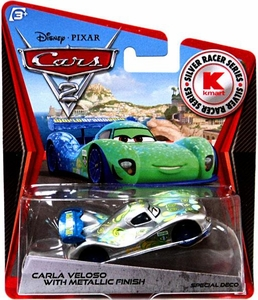 Disney / Pixar CARS 2 Movie Exclusive 1:55 Die Cast Car Silver Racer Carla Veloso