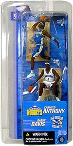 McFarlane Toys NBA 3 Inch Sports Picks Series 2 Mini Figures 2-Pack Carmelo Anthony (Denver Nuggets) & Baron Davis (New Orleans Hornets)