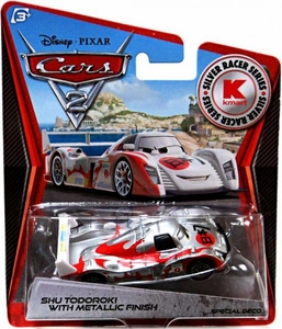 Disney / Pixar CARS 2 Movie Exclusive 1:55 Die Cast Car Silver Racer Shu Todoroki