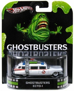 Hot Wheels Retro Ghostbusters 1:55 Die Cast Car Ecto-1
