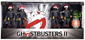 Mattel Ghostbusters II Exclusive Holiday 6 Inch Action Figure 4-Pack Box Set</b [Stantz, Venkman, Zeddemore & Spengler with Slimer!]